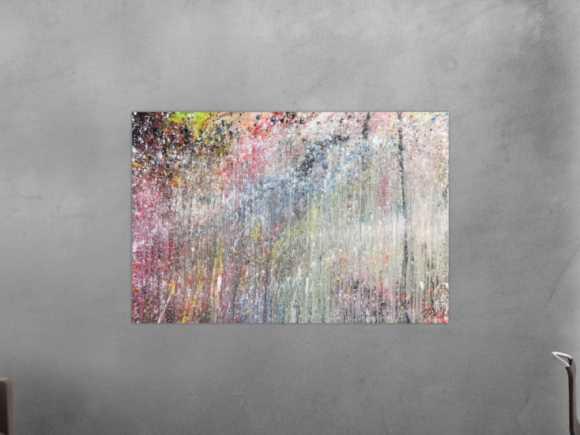 Abstraktes Acrylbild bunt modern schönes Gemälde 100x150cm