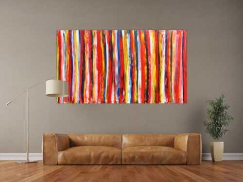 Buntes Acrylbild abstrakt modern viele Farben