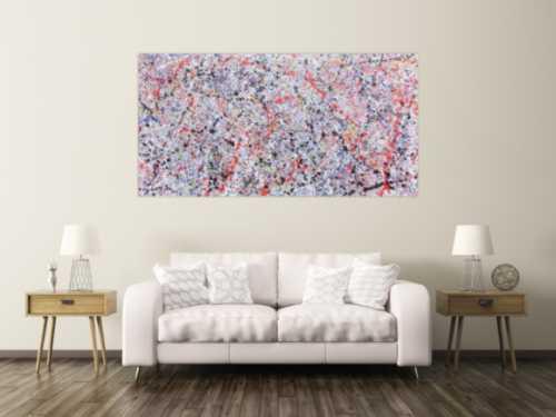 Buntes Acrylbild abstrakt hell schlicht