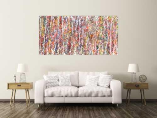 Modernes Acrylbild bunt abstrakt viele Farben