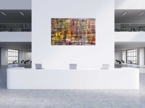 Moderes Acrylbild abstrakt spachtel Technik