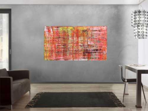 Modernes abstraktes Acrlbild Spachteltechnik rot