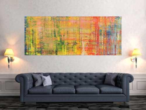 Buntes abstraktes Acrylbild modern Spachteltechnik