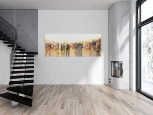 Abstraktes Acrylbild modern weiß hell schlicht