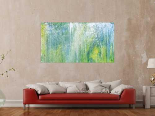 Sehr modernes Acrylbild abstrakt blau grün türkis