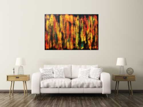 Abstraktes Gemälde im modernem Muster