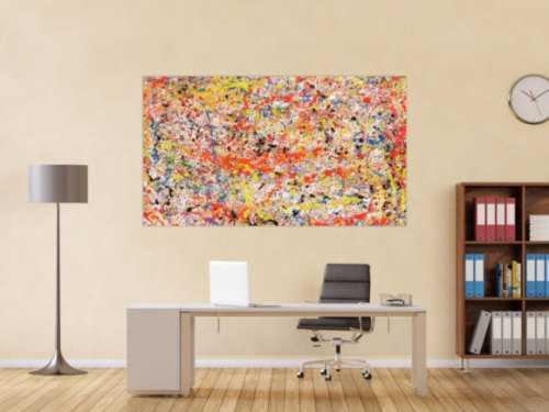 Buntes Acrylbild abstrakt sehr modern viele Farben