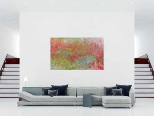 Schlichtes Aceylgemälde modern abstrakt mit hellen Farben