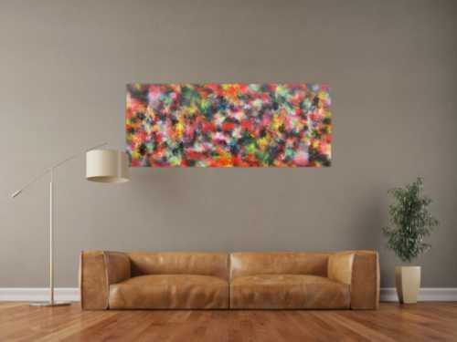 Buntes Acrylgemälde abstrakt modern viele Farben