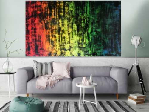 Sehr großes abstraktes Acryl Gemälde