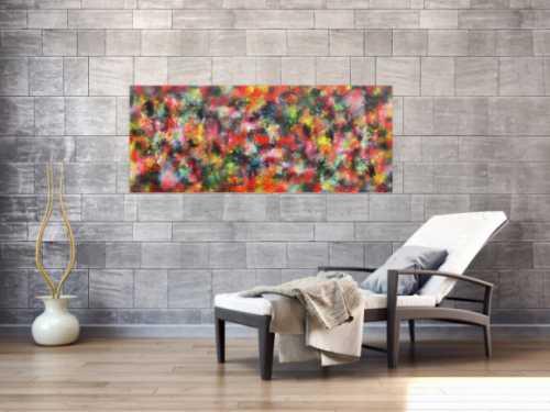Modernes Acrylbild abstrakt bunt viele Farben