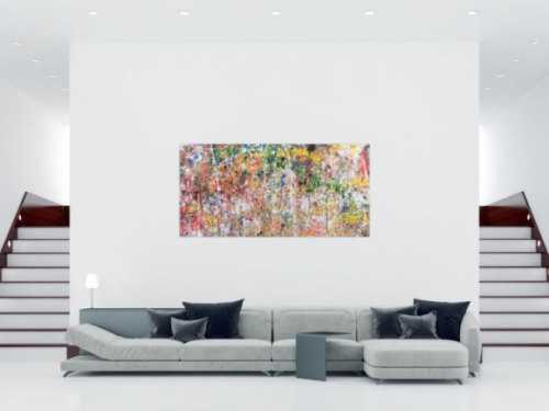 Buntes abstraktes Acrylbild modern mit vielen Farben