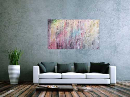 Modernes abstraktes Acrylbild bunt viele Farben modern und schlicht