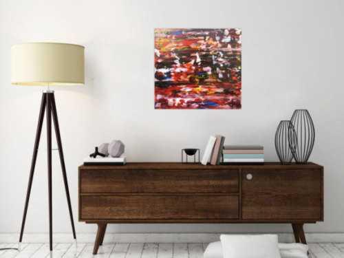 Modernes Gemälde abstrakt bunt mit Spachteltechnik