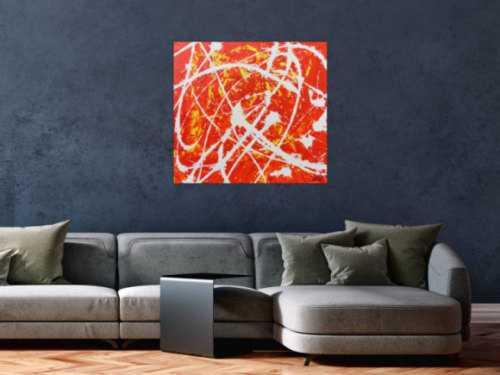 Oranges Acrylbild abstrakt modern schlichtes Gemälde
