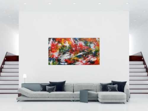 Buntes Acrylbild mit vielen Farben modern und abstrakt