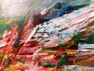 Detailaufnahme Abstraktes Acrylbild modern und bunt