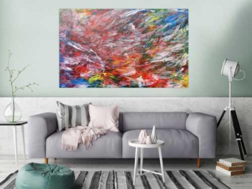 Abstraktes Acrylbild modern und bunt
