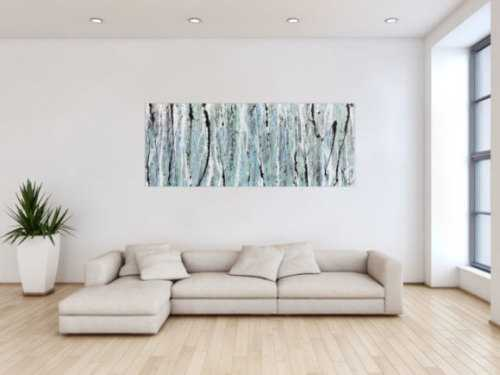 Schlichtes abstraktes Acrylbild helle Farben