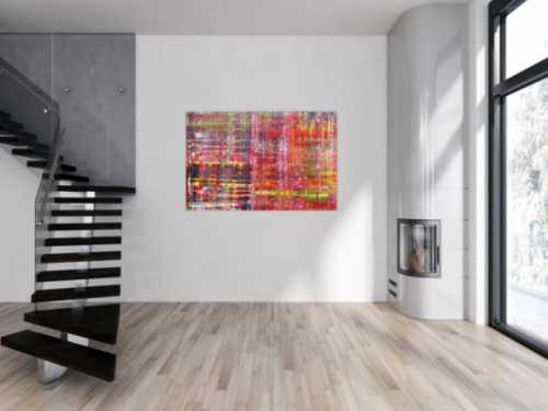 Modernes abstraktes Acrylbild in Spachteltechnik