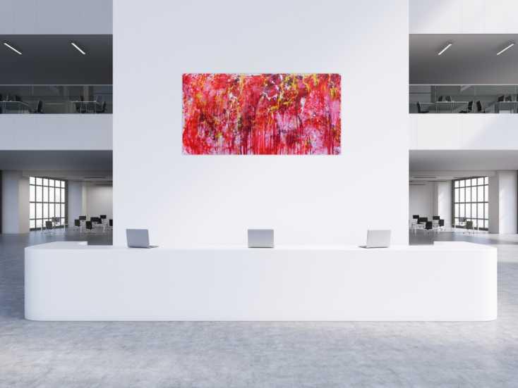 #478 Modernes abstraktes Acrylgemälde in rot einzigartig und speziell 100x200cm von Alex Zerr