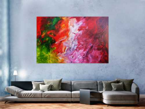 Modernes Acrylgemälde bunt modern mit vielen Farben