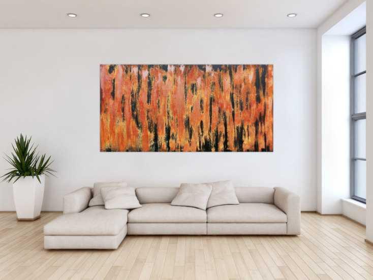 #487 Abstraktes Gemälde aus echtem Rost sehr modern 100x200cm von Alex Zerr