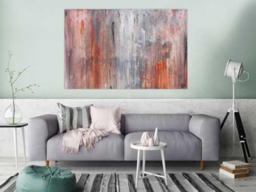 Abstrakte xxl gem lde gro e acrylbilder online kaufen - Leinwandbild grau ...