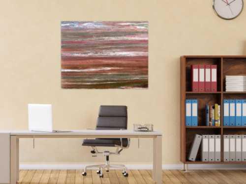 Modernes abstraktes Acrylbild in warmen Erdtönen sehr individuell