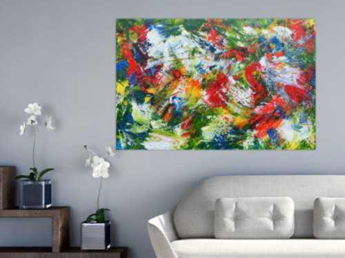 Modernes Acrylgemälde sehr bunt und abstrakt