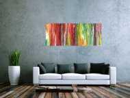 Sehr buntes und modernes Acrylbild abstrakt und sehr farbig