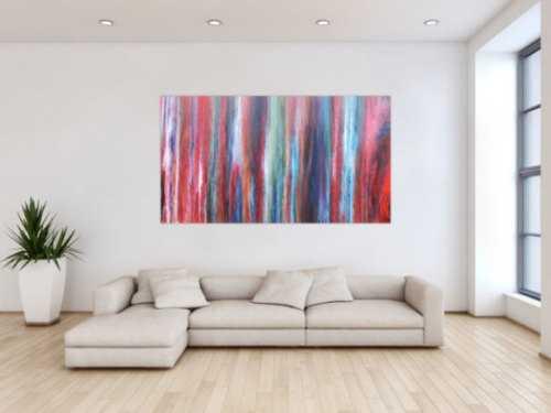 Abstraktes Acrylbild sehr modern und bunt