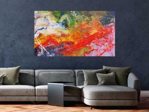 Buntes abstraktes Acrylgemälde sehr freundlch und fröhlich