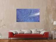 Modernes Acrylbild abstrakt lila blau weiß
