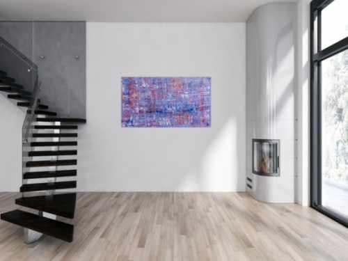 Abstraktes Acrylbild Spachteltechnik modern