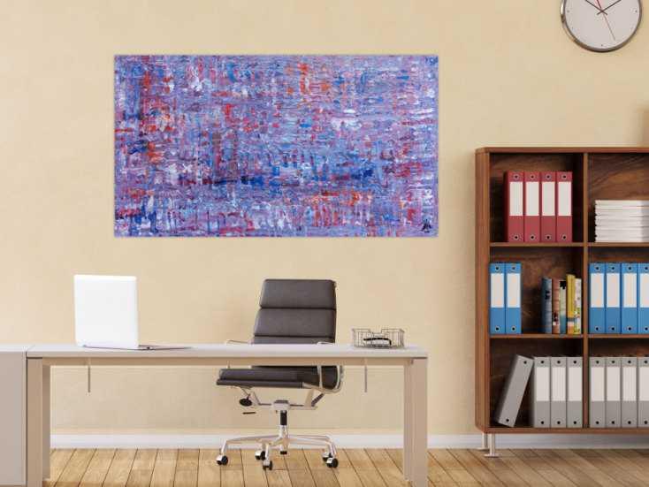#512 Abstraktes Acrylbild Spachteltechnik modern 80x140cm von Alex Zerr