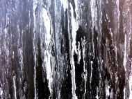 Detailaufnahme Modernes Acryl Gemälde in schwarz weiß abstrakt und schlicht