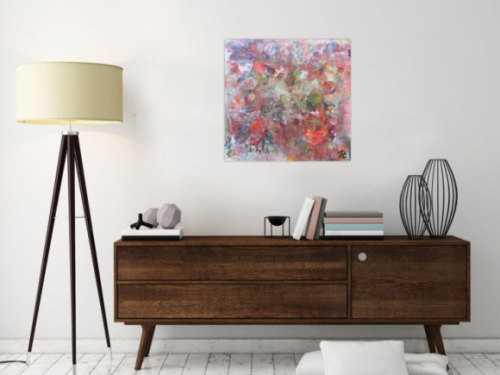 Buntes Acrylbild mit hellen Farben moderne abstrakt