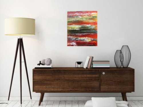 Sehr buntes und modernes abstraktes Acrylgemälde moderne Kunst