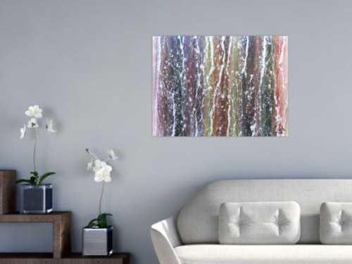 Buntes Acrylgemälde modern und abstrakt