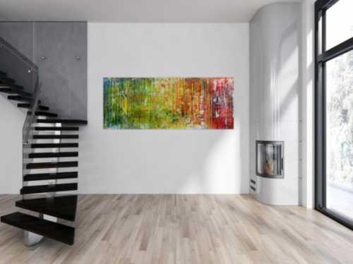 Sehr modernes Gemälde abstrakt aus Acryl und sehr bunt