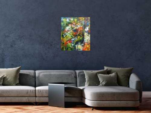 Buntes abstraktes Acrylbild mit vielen Farben sehr modern