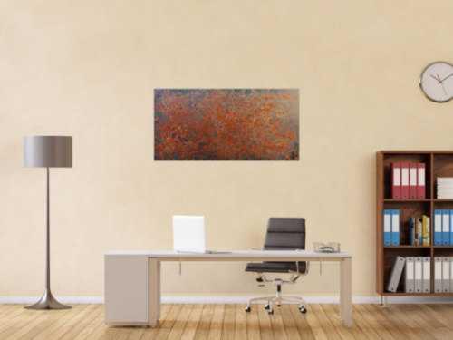 Sehr modernes abstraktes Rostbild abstrakte Kunst aus Rost