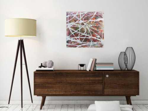 Abstraktes Acrylbild mit hellen Pastellfarben