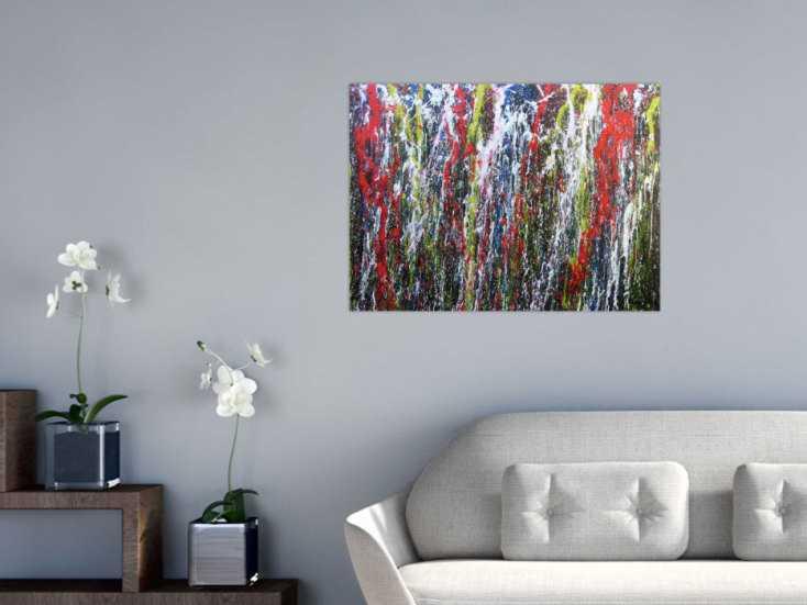 Buntes Acrylbild abstrakt modern mit vielen Farben handgemalt auf ...