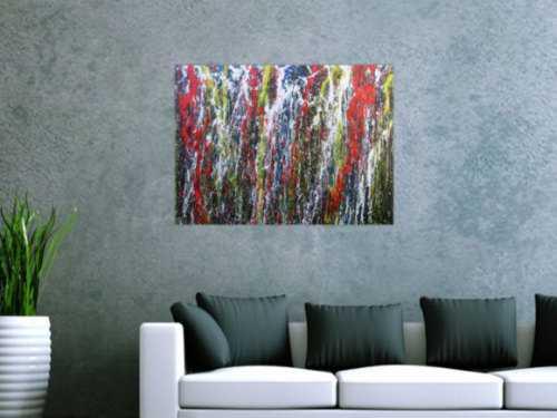 Buntes Acrylbild abstrakt modern mit vielen Farben