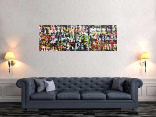 Abstraktes Acrylgemälde modern und sehr bunt