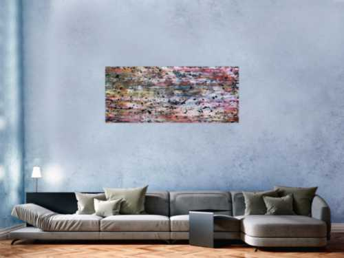 Modernes abstraktes Gemälde aus Acryl bunt