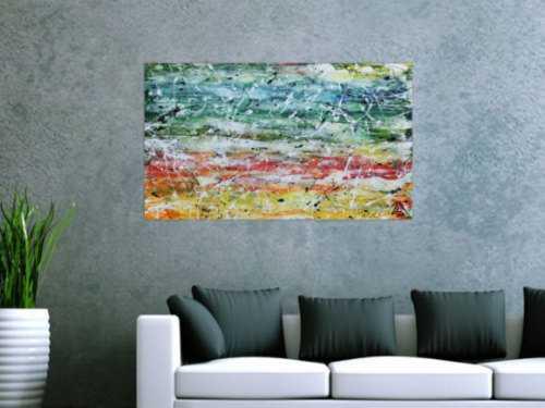 Modernes Acrylgemälde bunt und farbenfroh sehr modern