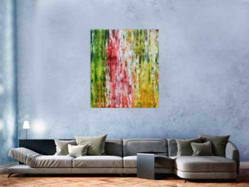 Sehr buntes Acrylgemälde mit vielen Farben modern und schlicht